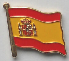 Spain Spanish Country Flag Enamel Pin Badge