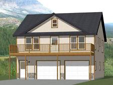 30x32 House -- 2 bedroom 1.5 Bath -- 986 sqft -- PDF Floor Plan -- Model 1H