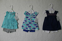 NEW CARTERS GIRLS 2 PIECE SET SHIRT & SHORTS OUTFIT VARIOUS STYLES & SIZES