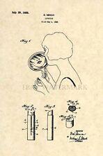 Official Lipstick US Patent Art Print - Makeup Salon Beauty Antique Vintage 136