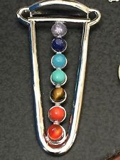 "Chakra Charm Cup is Full Tibetan Silver with 18"" Necklace B5"