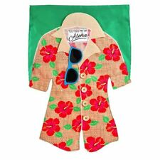 Hawaiian Shirt Garden Linen Flag 14L4421BL