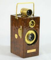 BOX CAMERA VINTAGE ANSCO MEMO 1927 TYPE 93 YRS VINTAGE CUSTOM IMBUYA WOOD VENEER
