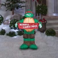 CHRISTMAS TEENAGE MUTANT NINJA TURTLE RAPHAEL INFLATABLE GEMMY 3.5 FT TALL