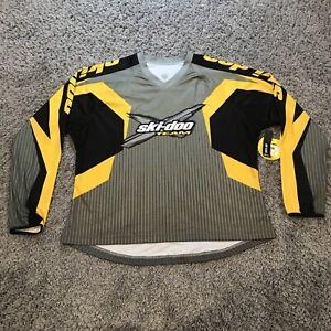 NWT Ski-Doo Quick Dry Antibacterial Women's XL X-Team Grey Black Yellow Jersey