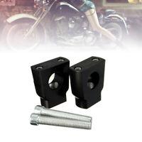 "Motorcycle Handlebar Handle Bar Mount Clamps Riser Universal 7/8"" 22mm Black USA"