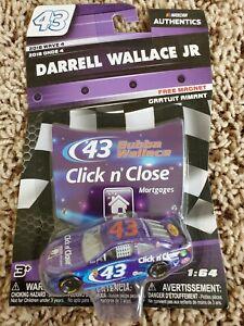 Bubba Wallace 2018 NASCAR Authentics 1/64 Diecast Wave 4 Click n' Close Daytona