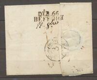 1818 Lettre Déboursé DEB 66/BEFFORT 31*10mm HAUT-RHIN(66) Superbe. X1568