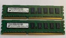 Micron 2 Go (2x1Go) DDR3 1333 Mhz RAM PC3-10600 -MT9JSF12872AZ