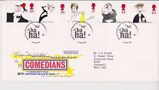 GB ROYAL MAIL FDC FIRST DAY COVER 1998 COMEDIANS STAMP SET BUREAU PMK