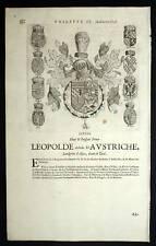 LEOPOLDE D'AUSTRICHE Heraldisme blason armoirie 1667