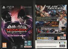 PS3-Tekken Tag Tournament 2 -WE ARE TEKKEN LTD ED- SIGILLATO!ITALIANO!NUOVO