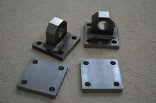Welded Shackle Mounts bumper winch D-ring bolt plates with backing plates
