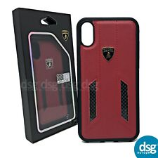 Genuine Official Lamborghini Huracan D1 Leather Cover Case for iPhone X 10