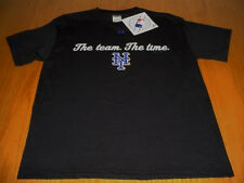 NEW WT MLB NEW YORK METS T-SHIRT MENS WOMANS M BLACK MAJESTIC PRESHRUNK COTTON