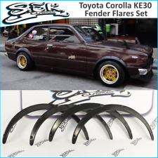 Toyota Corolla KE30 Fender Flares Set Wide Body Kit 4-2 doors JDM wheel arches.