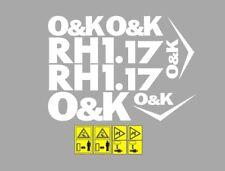 Sticker, aufkleber, decal - OK O&K RH 1.17