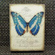 Sid Dickens T-373 SIGNED METAMORPHOSIS Butterfly Blue New Memory Block