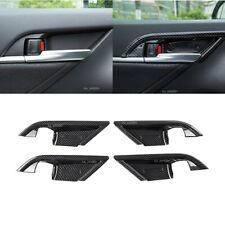 4Pcs Car Interior Door Handle Bowl Cover Trim Carbon Fiber ABS Fit Toyota Camry
