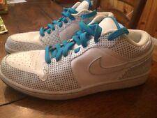 Air Jordan 1 Phat Low (Size 12) White/Electric Blue, Polka Dots