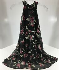 Dainty Hooligan Womens Floral Hater Neck Dress Color Black Size Small NWT #