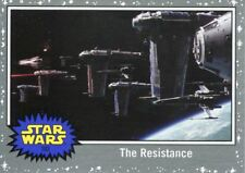 Star Wars The Last Jedi Silver Base Card #32 Back on the Frigate