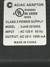 AC/DC Adapter Input 120V 60Hz - Output 15VDC 900 mA C.P.+  class 2 transformer