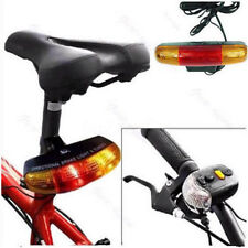 Bike Bicycle Turn Signal Indicator Light 7 LED Front Rear Horn Warning Light