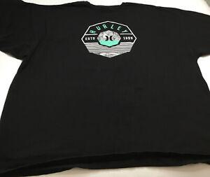 HURLEY Classic Fit Men's 3XL Black Short Sleeve T Shirt