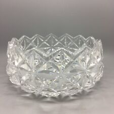 Antique Deep Cut Saw Toothed Centerpiece Victorian Crystal Fruit Bowl 1860s