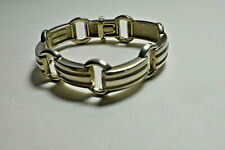 "Tiffany & Co. Atlas Groove Link Bracelet Sterling Silver w/ Pouch 5/8"" Wide"