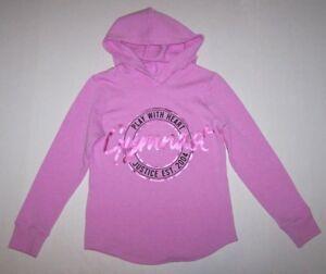 Justice Gymnastics Gymnast Sweatshirt Hoodie Top Hologram Logo New Girl