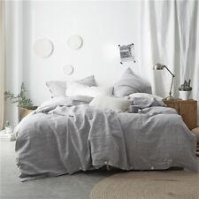 Bedding set 4 Pcs Luxury 100% Linen duvet cover flat sheet 2 pillowcases Plain
