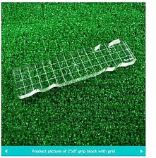 "Lawn Fawn CLEAR ACRYLIC STAMPING BLOCK  ~ 2"" x 8"" with grip & grid ~ 1/2"" thick"