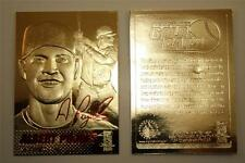 ALBERT PUJOLS 2003 23KT Gold Card Sculptured Signature Series Cardinals NM-MT