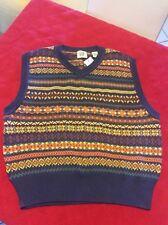 Gap Men's Knitted Sleeveless Sweater  Vest Blue/orange/yellow Size XL