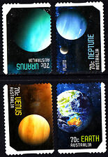 Australia 2015 Our Solar System Complete Set of Stamps S/A Uncancelled No Gum