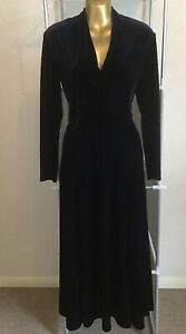 Vintage Dress Black Velvet 1940s Style Starlet Alexon