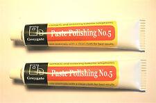 2 tubes Solide Plastique & vintage bakélite restauration et polissage Pâte 2 X
