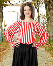 Women's Anne Bonney Striped Blouse, High quality hand crafted, one by one COOL!!