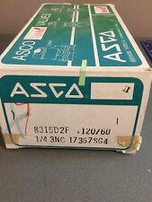NEW ASCO SOLENOID VALVE 8315D2F 120/60 1/4