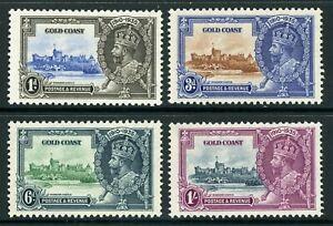 British 1935 KGV Silver Jubilee Gold Coast Scott #108-111 Mint Non Hinged Y89