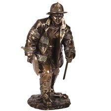 "8.25"" Fireman Fighting Fire Statue Fire Fighter Figure Figurine Hero"