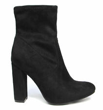 New Therapy Shoes ZELLER BLACK - Womens ROUNDED TOE DRESS ANKLE BOOT BLOCK HEEL