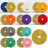 """100mm/4"""" Grinding Disc Wet/Dry Diamond Polishing Pads For Granite Marble Tile"""