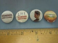 DASHBOARD CONFESSIONAL 2006 ltd.ed. 4 button/badge/pinback set NEW old stock
