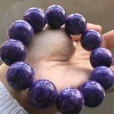 Natural Purple Charoite Gemstone Round Big Beads Bracelet 20mm AAAAA