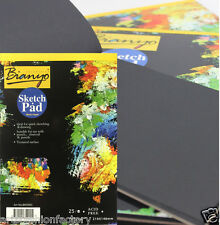 25-Sheet Artist Sketch Pad. 12-inch By 16-inch Paper Bound Black Paper Pad A3