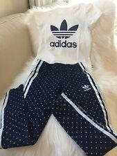 New Adidas Originals Denim Legging 3 Stripes Pants and T-Shirt Set 5-6 Years