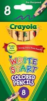 Crayola Write Start Colored Pencils, Classic Colors 8 Count Assorted Thick leads
